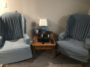Side chairs and antique Lane table and lamp for Sale in Chicago, IL