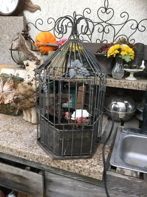 Vintage Birdcage Water Fountain for Sale in Alta Loma, CA