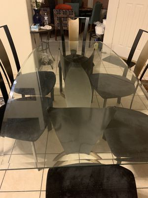 Glass table with chairs for Sale in Peoria, AZ