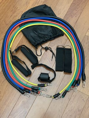 11 PCS Latex Resistance bands for Training Excerise for Sale in Fort Lauderdale, FL