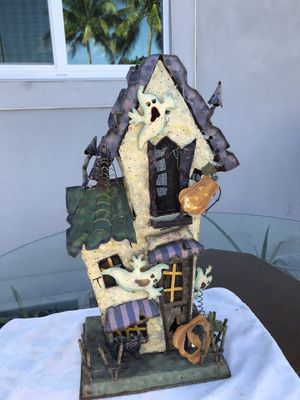 Old metal Haunted house candle holder for Sale in Pembroke Pines, FL