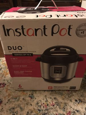 Instant Pot DUO60 v3 6Qt 7-in-1 Multi-Use Programmable Pressure Cooker for Sale in Fountain Hills, AZ