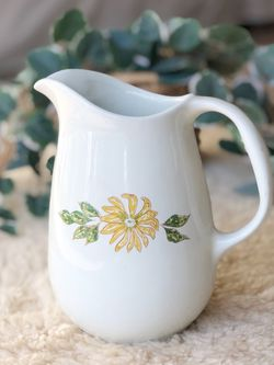 Ceramic pitcher or vase with yellow flower for Sale in Hillsboro,  OR