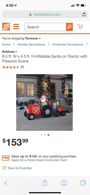 Christmas 8.5 Ft tractor blow up for Sale in Torrance, CA