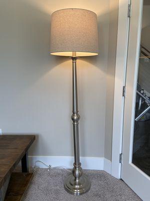 "58"" Brushed Nickel Floor Lamp for Sale in Gig Harbor, WA"