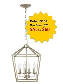 Weyburn 4-Light Antique Silver Leaf Caged Chandelier NEW for Sale in Fort Lauderdale,  FL