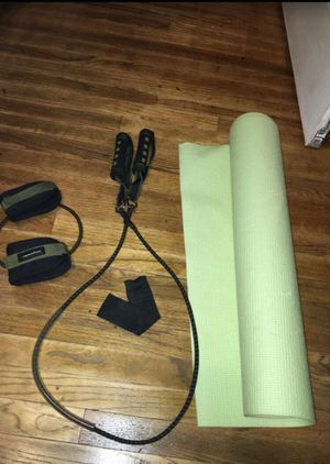 Yoga mat and tension bands exercise equipment for Sale in Banning, CA