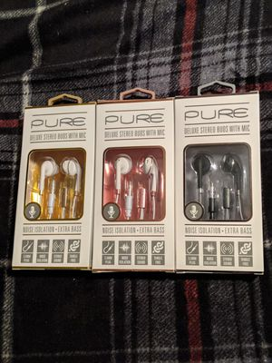 Assorted color earbuds with mic for Sale in Brownstown Charter Township, MI