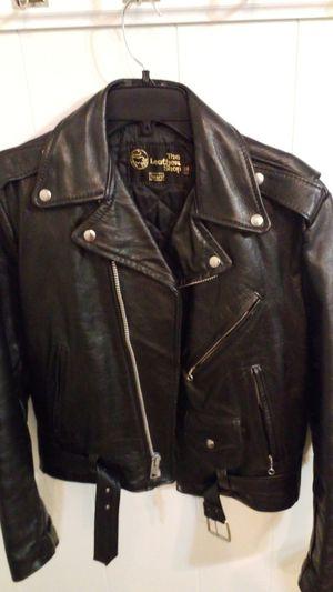 Leather biker jacket for Sale in DeSoto, TX
