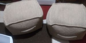 2 new beautiful ottamans home decor made out of brown sacks forgot what its called lol 10dol each firm lots gd deals my post go look for Sale in Jupiter, FL