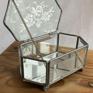 Vintage Glass Jewelry Box for Sale in Creswell, OR