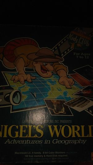 Vintage Nigel's World adventures in geography for mac for Sale in Sacramento, CA
