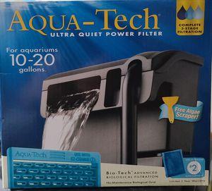 Aqua-Tech 10-20 gallon aquarium power filter for Sale in Arroyo Grande, CA