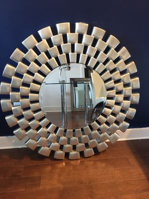 Brushed nickel wall mirror for Sale in Lodi, NJ