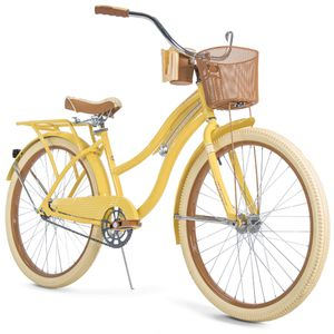 """Huffy, Nel Lusso Classic Cruiser Bike with Perfect Fit Frame, Women's, Yellow, 26"""" for Sale in Temple City, CA"""
