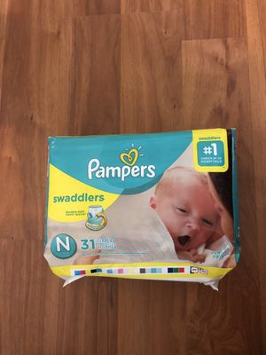 Pampers swaddlers newborn, 31 ct. Store price $10. for Sale in Austin, TX