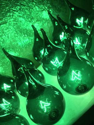 """Holiday- 2"""" tall glass teardrop lights... never used for Sale in Huntington Beach, CA"""