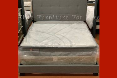 Queen Grey Fabric Bed Frame for Sale in Chula Vista,  CA