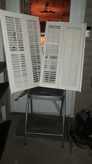 2 white solid wooden shutters for Sale in Lexington, KY