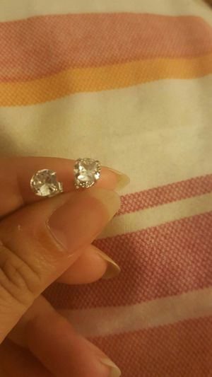 925 sterling silver zircon diamond small stud earrings for men and women for Sale in Perris, CA