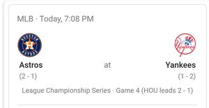 Astros vs Yankees for Sale in Corpus Christi, TX
