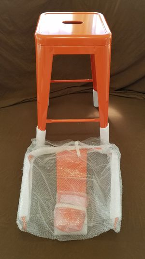 Flash Furniture 24'' Orange Metal Indoor-Outdoor Counter Height Stool with Back NEW for Sale in Tarpon Springs, FL