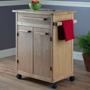 Winsome Wood Single Drawer Kitchen Cabinet Storage Cart NIB (Natural) for Sale in Las Vegas, NV