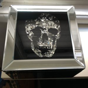 """Crystal Skull""with all-mirrored glass box for Sale in Beverly Hills, CA"