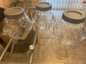 New Candy jars/ soap jars/ spices etc.(glass) for Sale in San Jacinto, CA