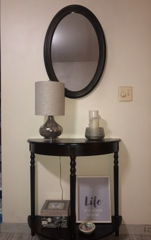 Console Table with matching mirror for Sale in Secaucus, NJ