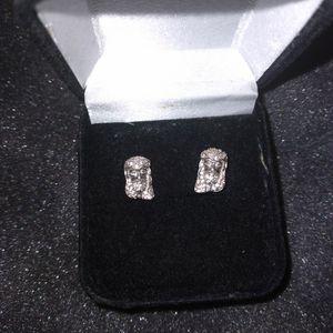Jesus Piece Earrings Real 925 Sterling Silver for Sale in Glendale, AZ