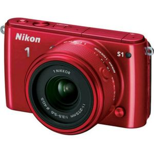 Nikon 1 S1 Red Digital Camera with 11-27.5mm Lens for Sale in West Collingswood Heights, NJ