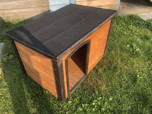 Precision dog products dog house with tall crate for Sale in Chicago, IL
