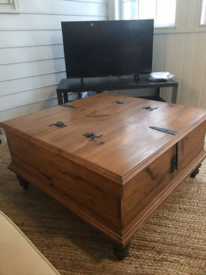 Beautiful Solid Wood Coffee Table With Double Storage! for Sale in Marietta, GA