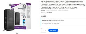 NERGEAR N300 Wifi Modem Router for Sale in Upper Arlington, OH