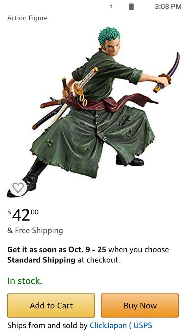 Banpresto One Piece Modeling Story Roronoa Zoro Special Color Version Anime Figure
