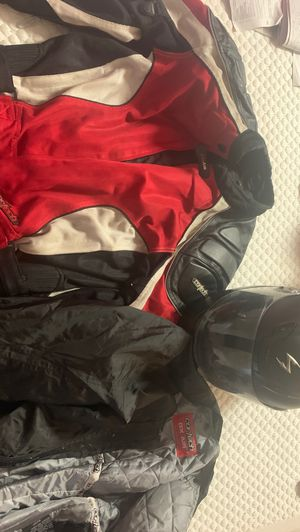 Motorcycle equipment scorpion helmet size large, 3 layer jacket for Sale in Los Angeles, CA