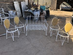 Antique chairs all metal for Sale in Phoenix, AZ