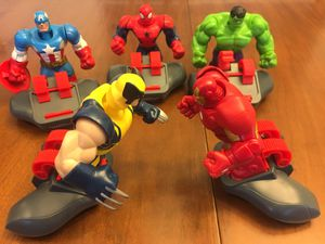 Marvel Battle Masters (5 superhero figures with controllers) for Sale in Alafaya, FL