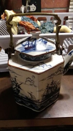 Blue white canister for Sale in Cleveland, TN