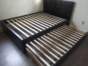 $325 full twin trundle bed frame brand new free delivery for Sale in Miramar, FL
