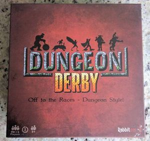 Deluxe Dungeon Derby - Family Friendly Strategy Board Game - Deluxe Edition Includes 6 Premium Miniature Figures for Sale in Sterling Heights, MI