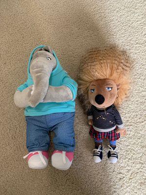 Like new- Sing the movie stuffed animals for Sale in Virginia Beach, VA