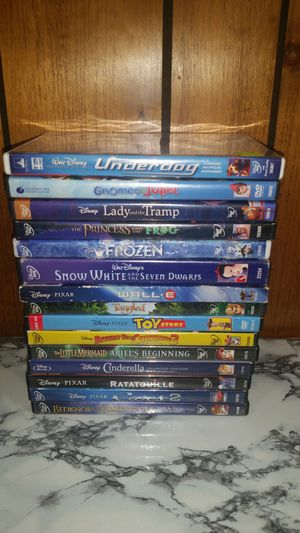(15) Disney DVD Movie frozen toy Story cars 2 princess snow white and more Lot for Sale in Seffner, FL