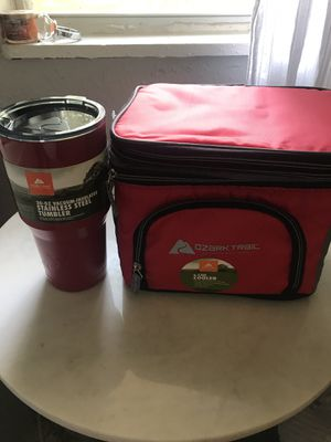 Ozark trail new cooler and tumblr cup new lunchbox for Sale in Lockhart, FL