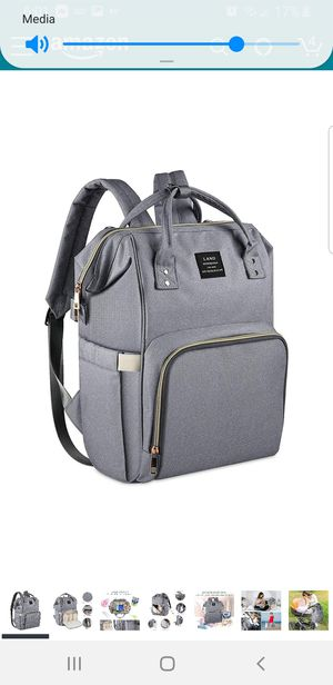 Large light grey diaper bag for Sale in Bell Gardens, CA