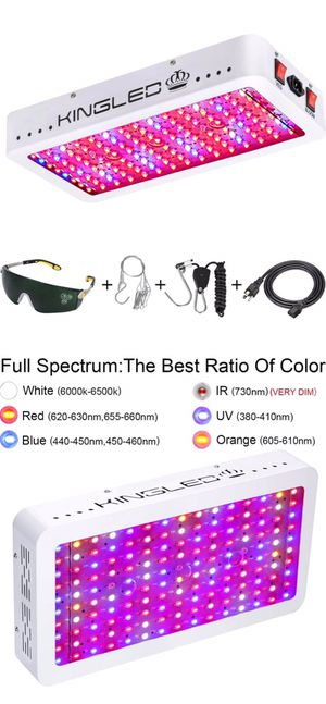 1500W Double Chips LED Grow Light Full Spectrum for Greenhouse and Indoor Plant Flowering Growing (10w LEDs) for Sale in Temple City, CA