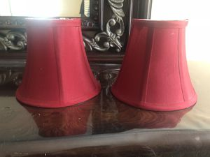 Red lamp shade set for Sale in Alexandria, VA