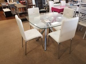 Square Glass Dining Table with four chairs for Sale in Phoenix, AZ