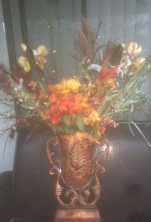 Flower arrangement in copper vase for Sale in San Antonio, TX